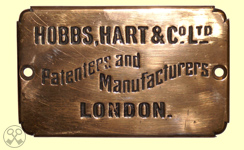 Hobbs, Hart & Co. Ltd. Plate