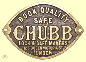 Chubb Book Quality Safe Plate
