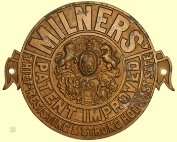 Milners' Theif Resisting Holdfast Plate