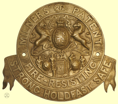 Milners' 212 Fire Resisting Holdfast Plate